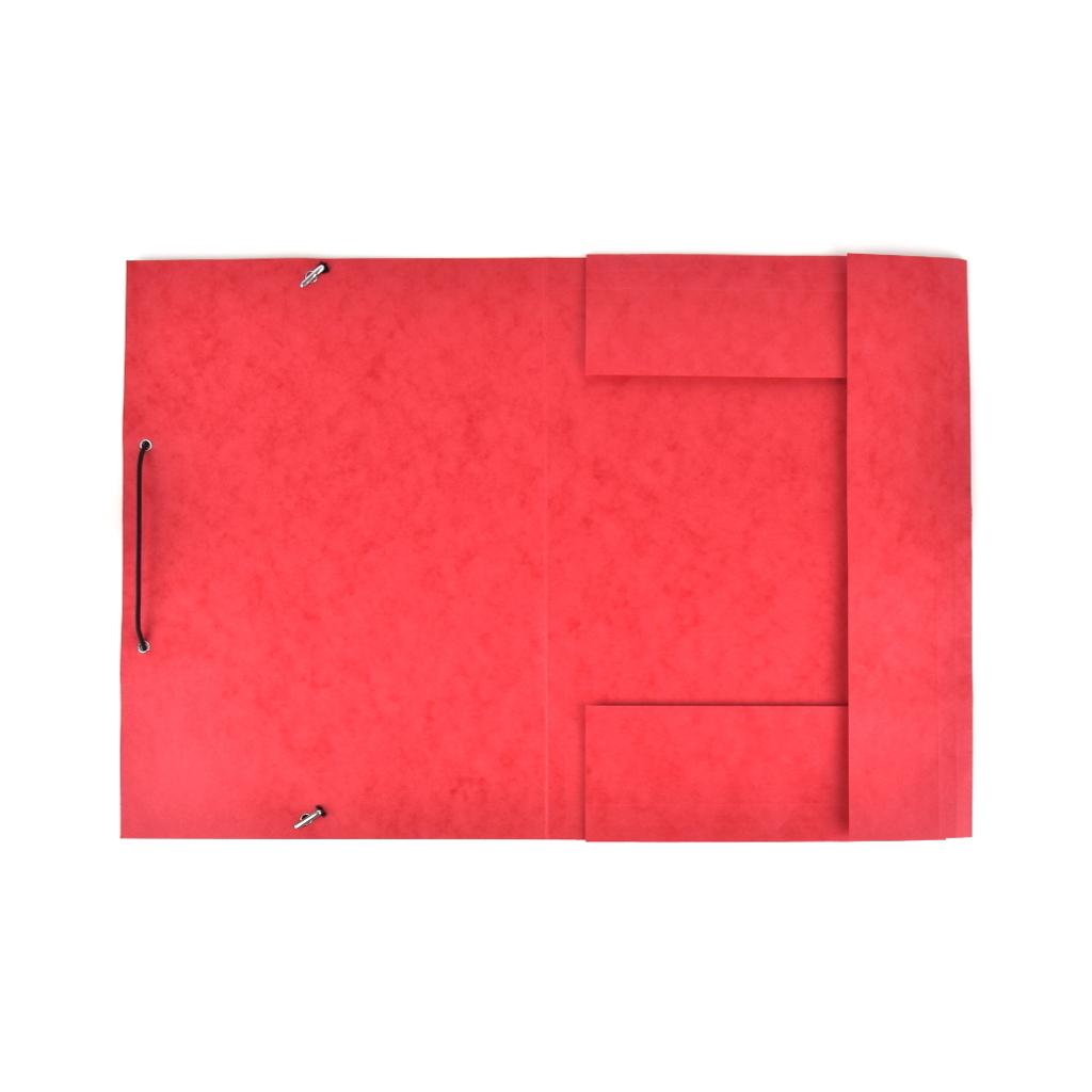 Odkladacia mapa OM 3 prešpán s gumou - červená