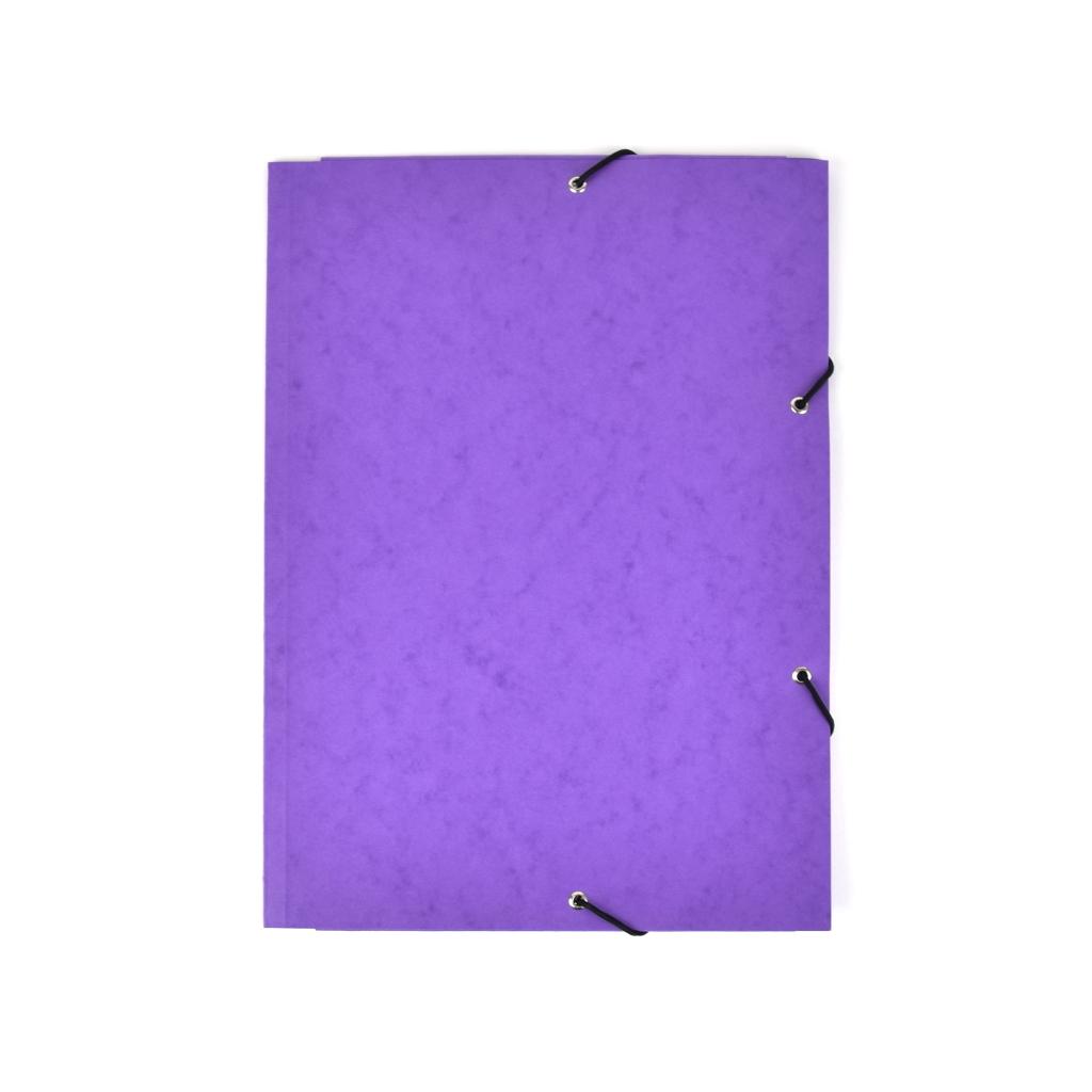 Odkladacia mapa OM 3 prešpán s gumou - fialová