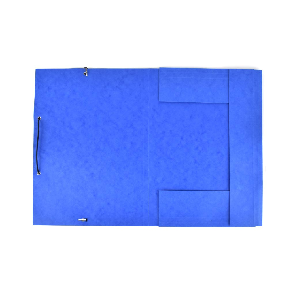 Odkladacia mapa OM 3 prešpán s gumou - modrá