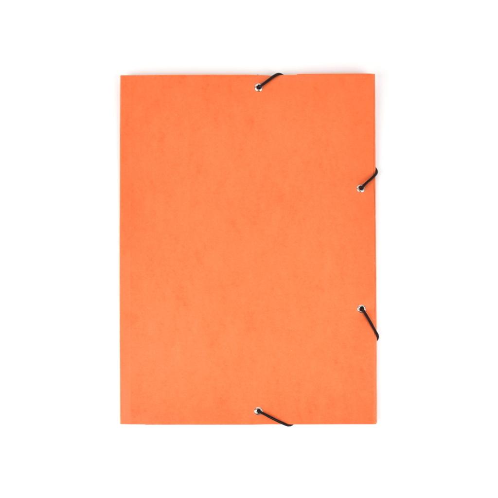 Odkladacia mapa OM 3 prešpán s gumou - oranžová