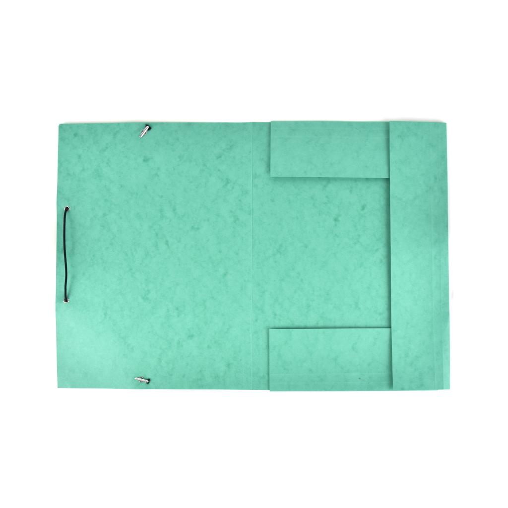 Odkladacia mapa OM 3 prešpán s gumou - zelená