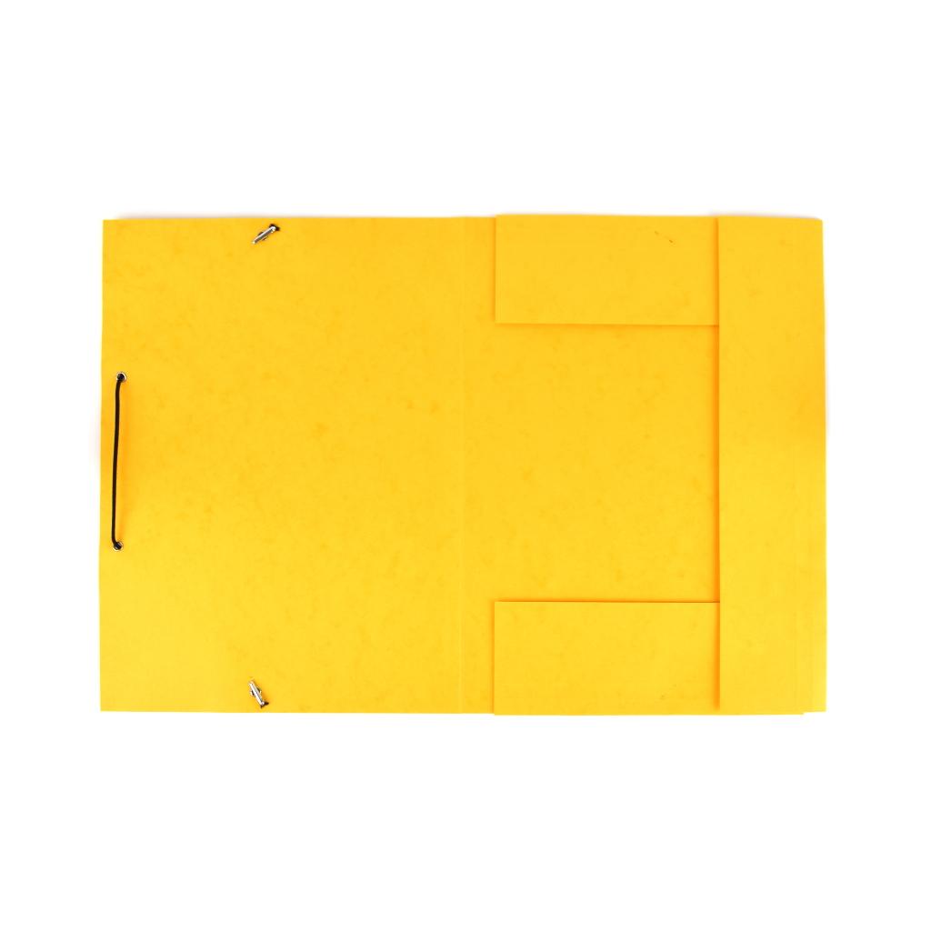 Odkladacia mapa OM 3 prešpán s gumou - žltá