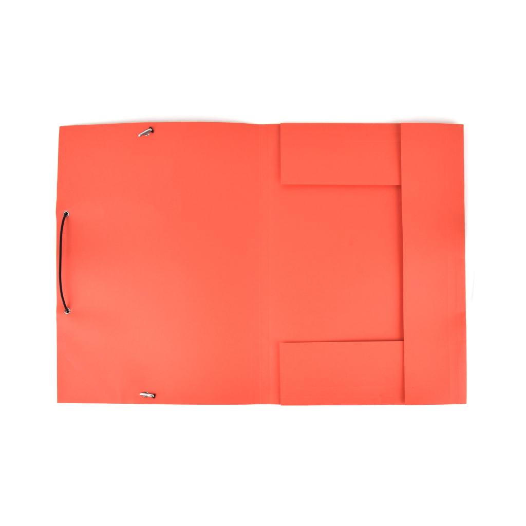 Odkladacia mapa OM 3 LUX 250 g s gumou - červená