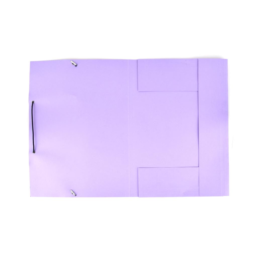 Odkladacia mapa OM 3 LUX 250 g s gumou - fialová