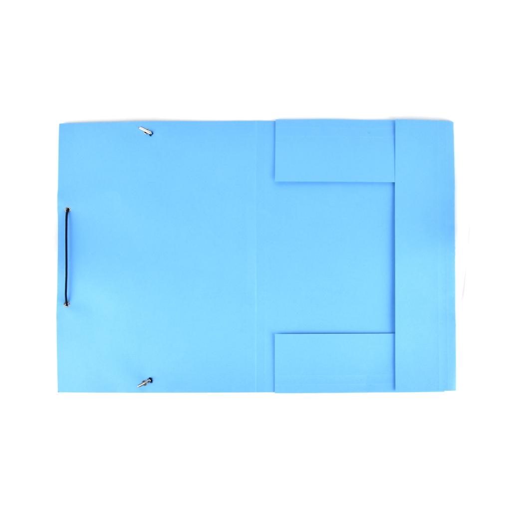 Odkladacia mapa OM 3 LUX 250 g s gumou - modrá