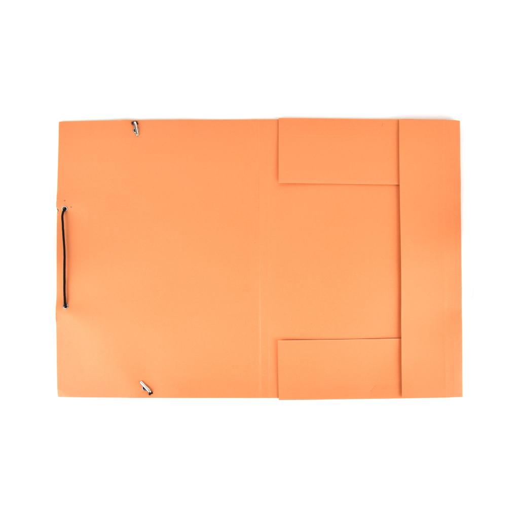 Odkladacia mapa OM 3 LUX 250 g s gumou - oranžová