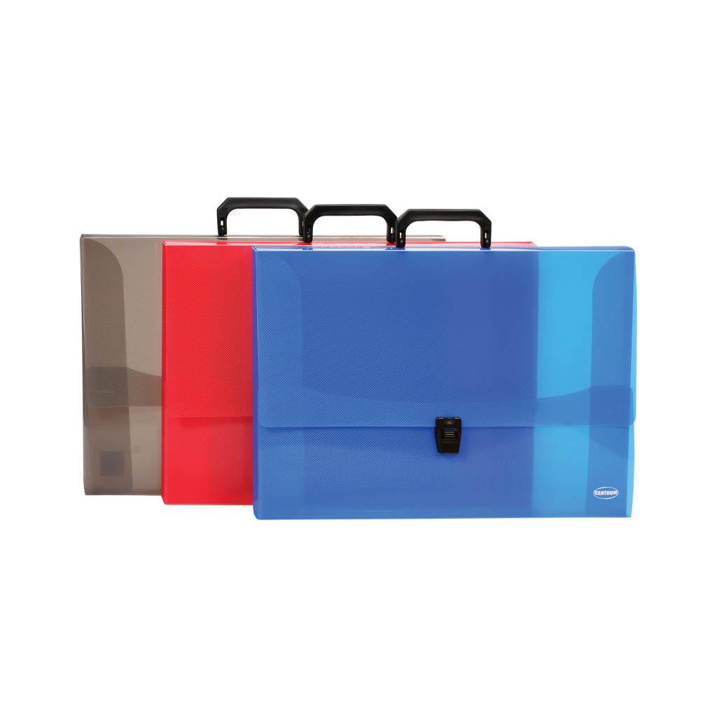 Taška na dokumenty A3 PP so zapínaním, mix farieb