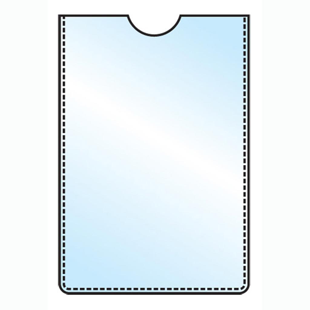 Obal na kartičku s výsekom, 5,5x8,5cm (6x9cm), PVC, lesklý, 150 mic, 5 ks