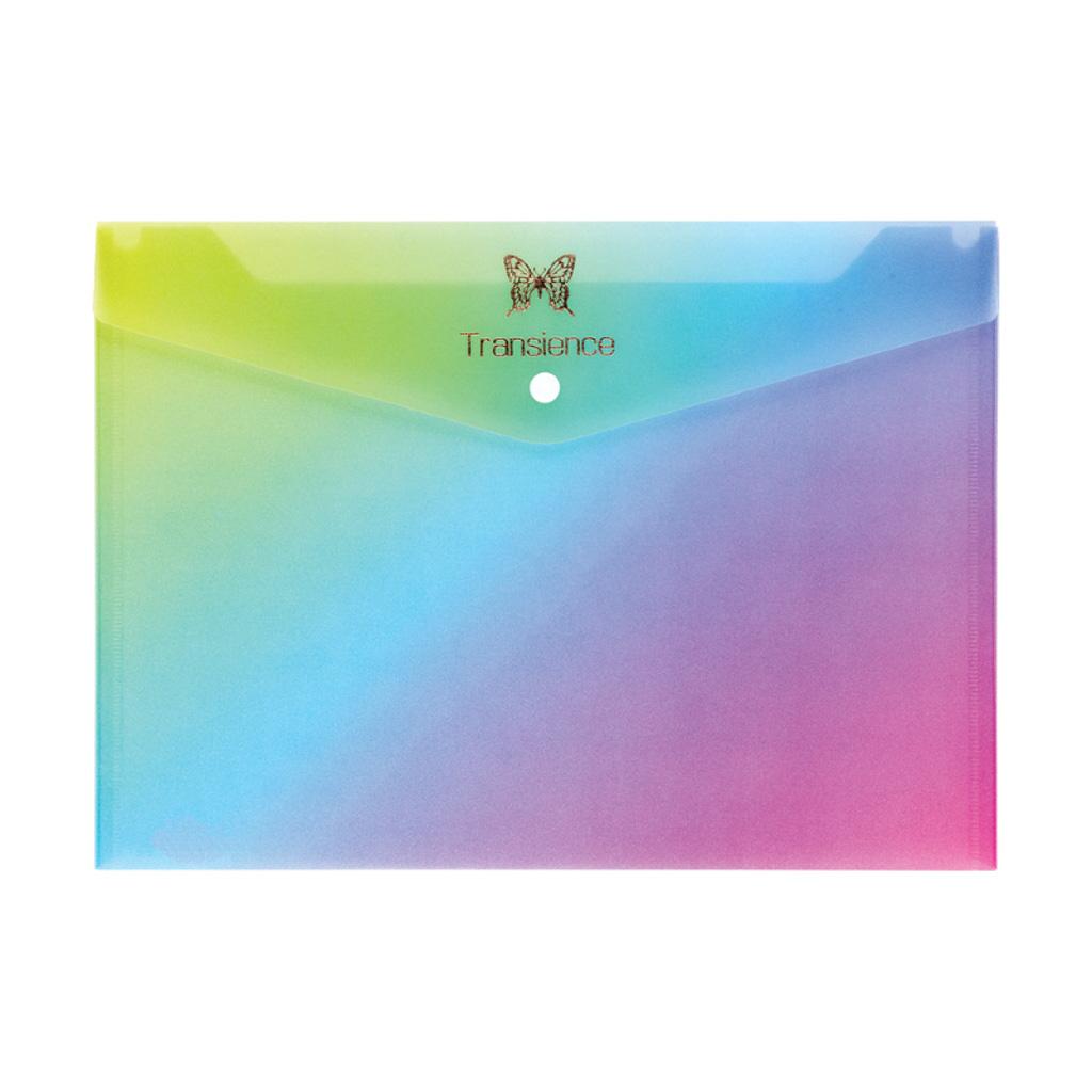 Obal spisový so zapínaním A4, PP - dúha, mix farieb