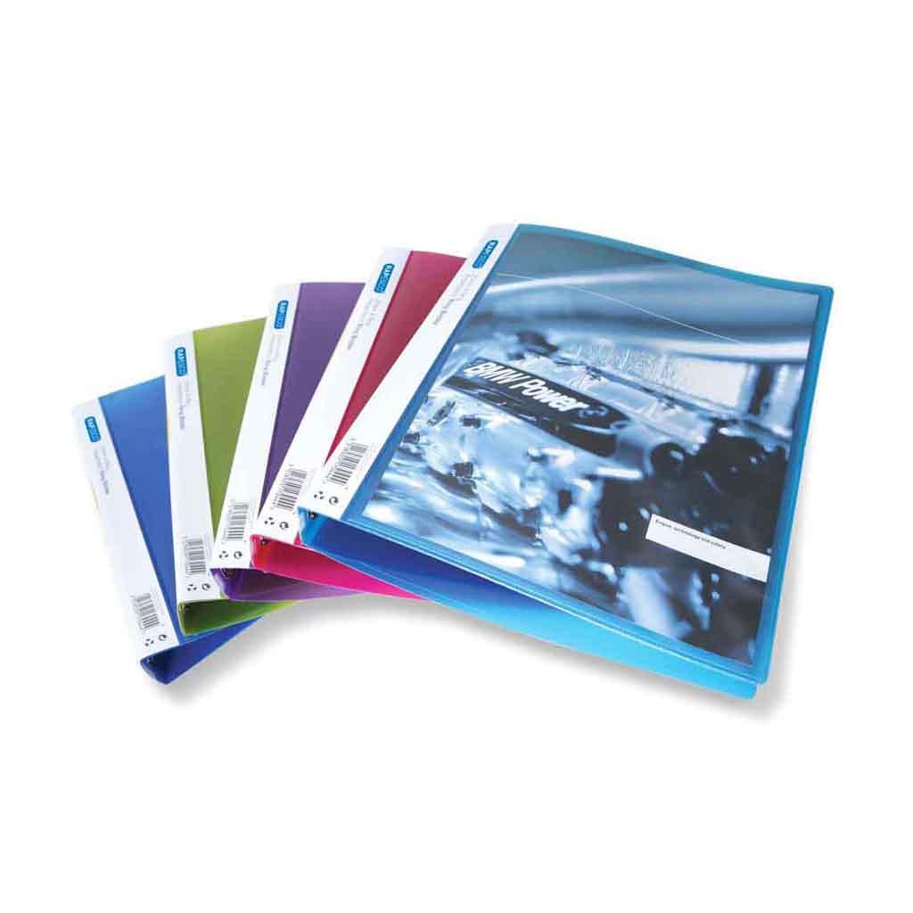 Rapesco Karisblok prezentačný, 4-krúž., A4, 2,5 cm, PP, mix farieb