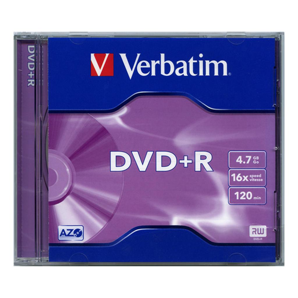 DVD+R Verbatim 4,7GB, 16x, plastový jewel obal - 43497