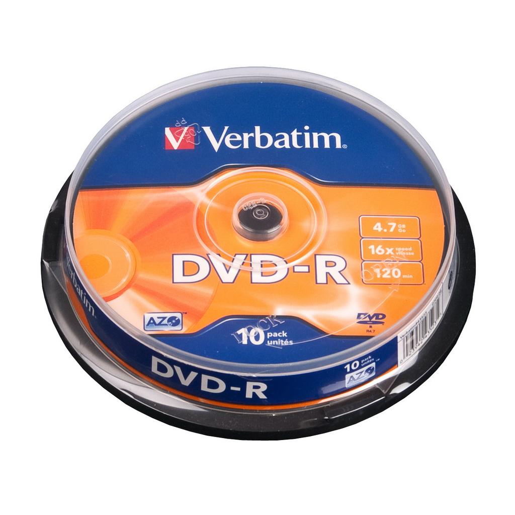DVD-R Verbatim 4,7GB, 16x, cake obal - 43523 (10ks/bal)