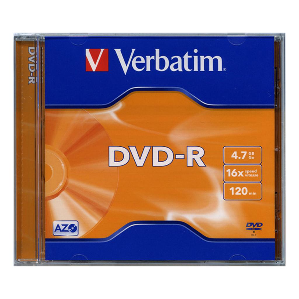 DVD-R Verbatim 4,7GB, 16x, plastový jewel obal - 43519