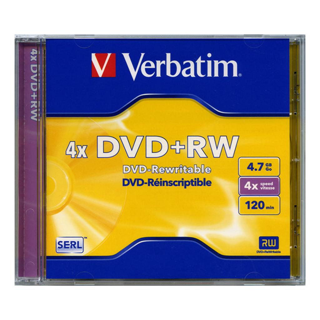 DVD+RW Verbatim 4,7GB, 4x, plastový jewel obal - 43229