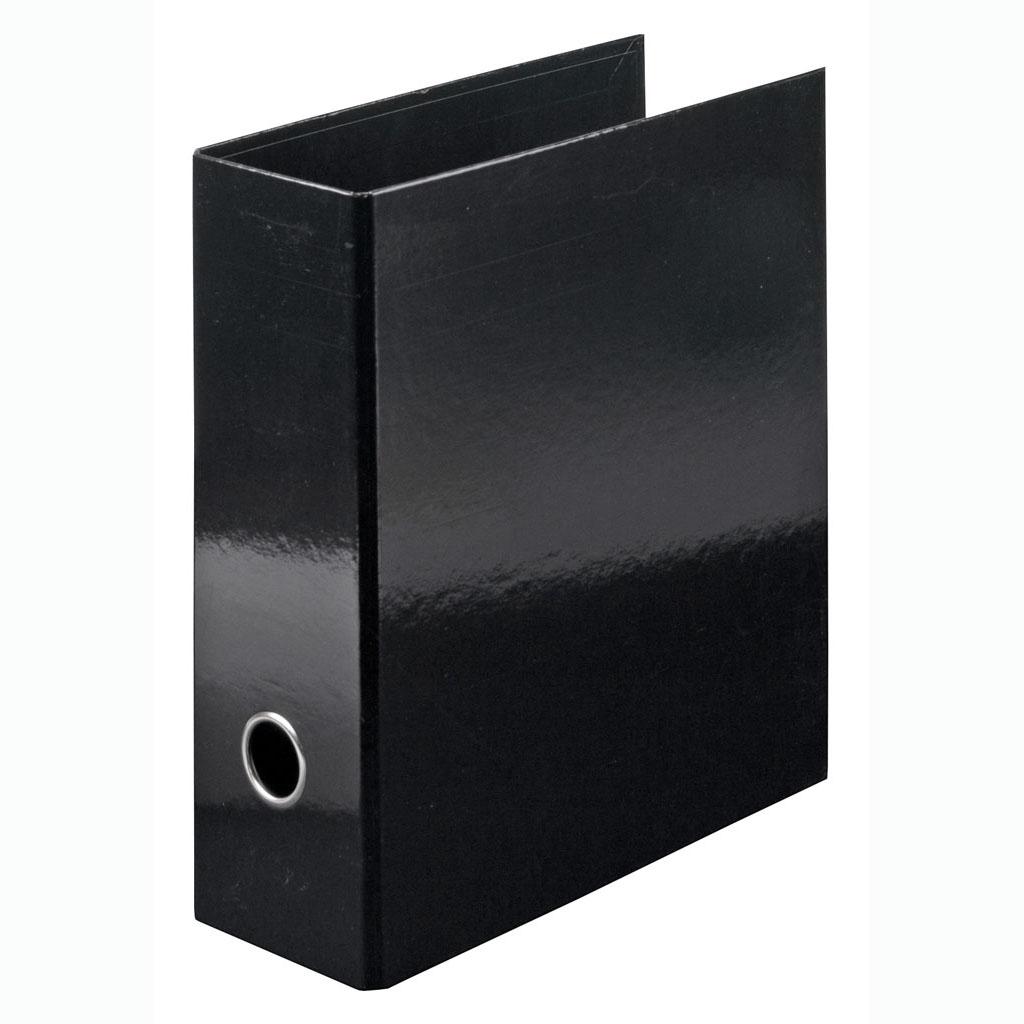 Zakladač pákový laminovaný A5 na výšku 8 cm, čierny