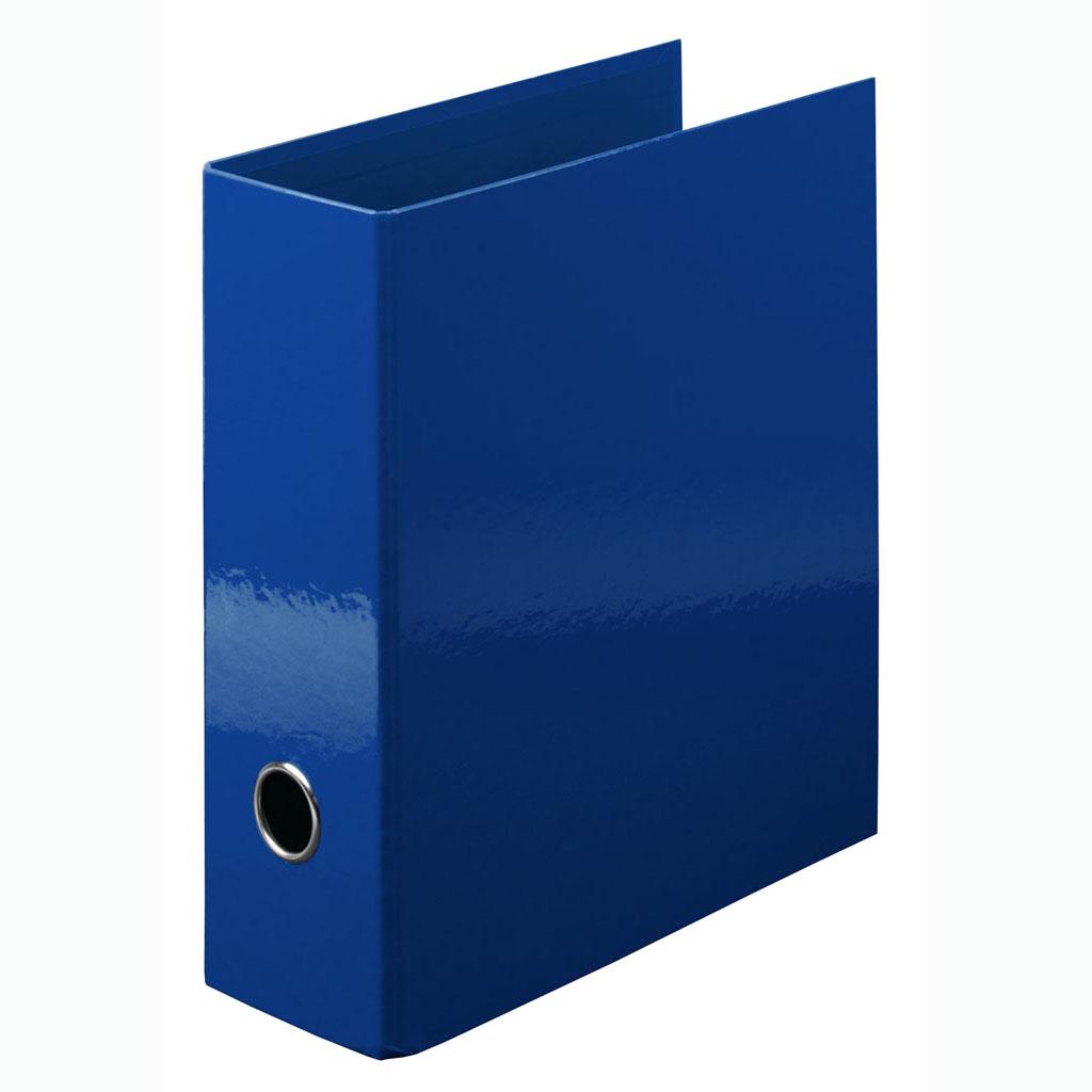 Zakladač pákový laminovaný A5 na výšku 8 cm, modrý