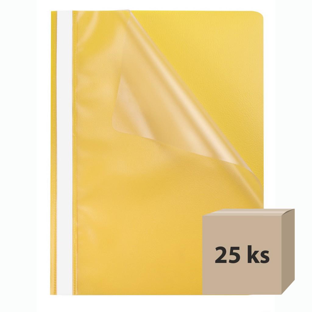 Rýchloviazač PP A4 priehľad. - žltá, 25 ks