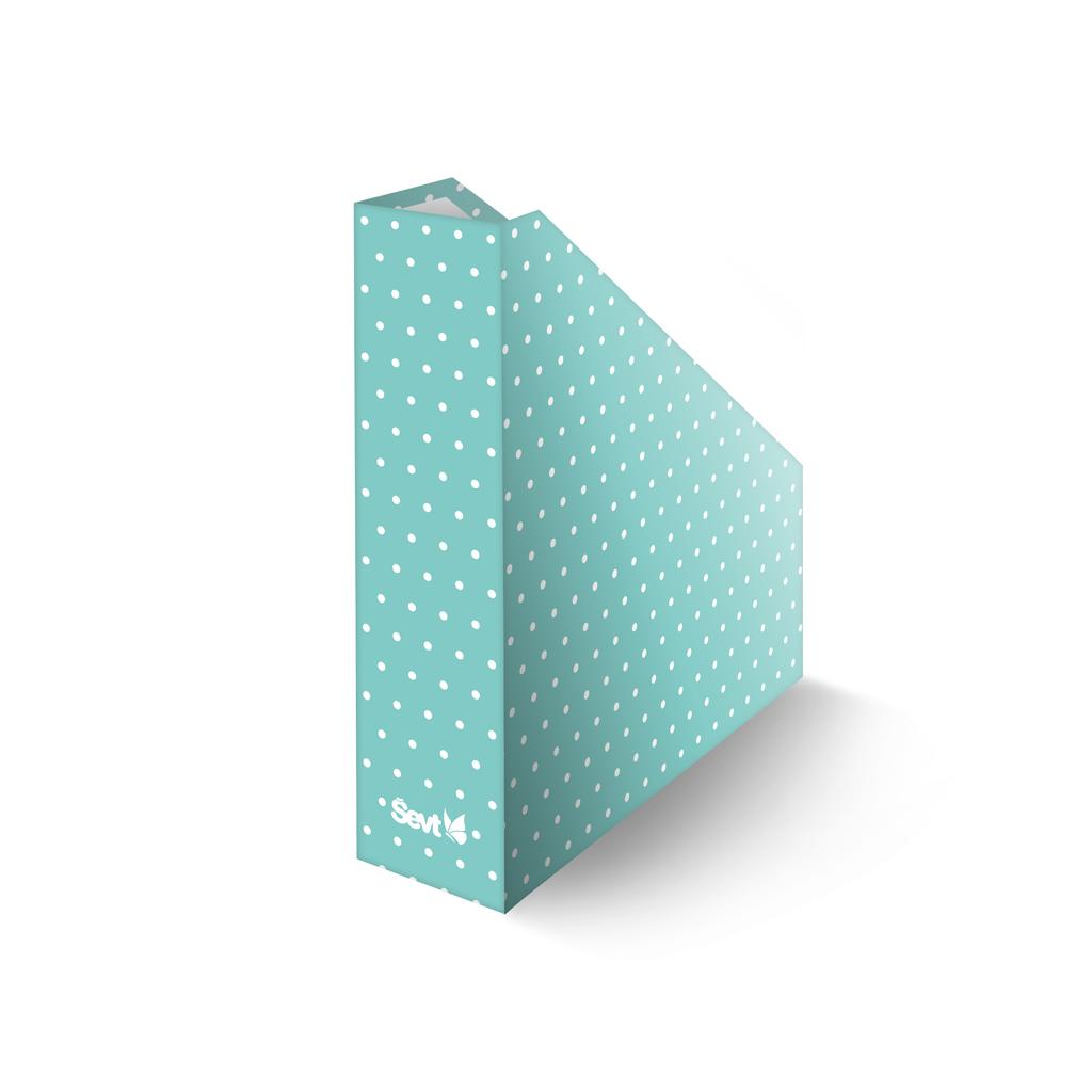 Zásobník lamino A4  - bodky - zelené
