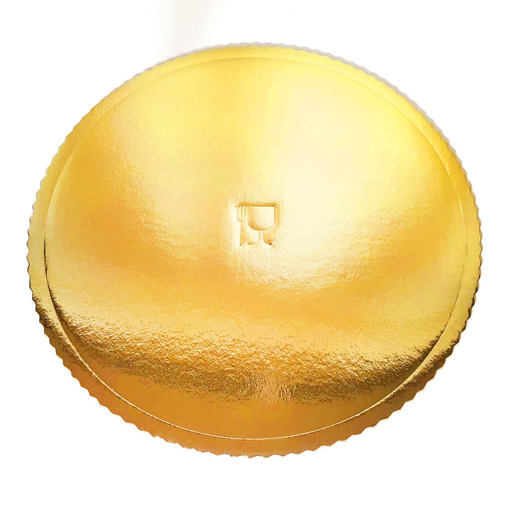 Podložka pod tortu - 36 cm / 5ks - zlatá