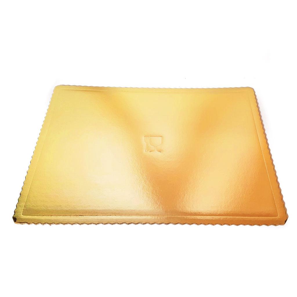 Podložka pod tortu - 30x40 cm / 5ks - zlatá