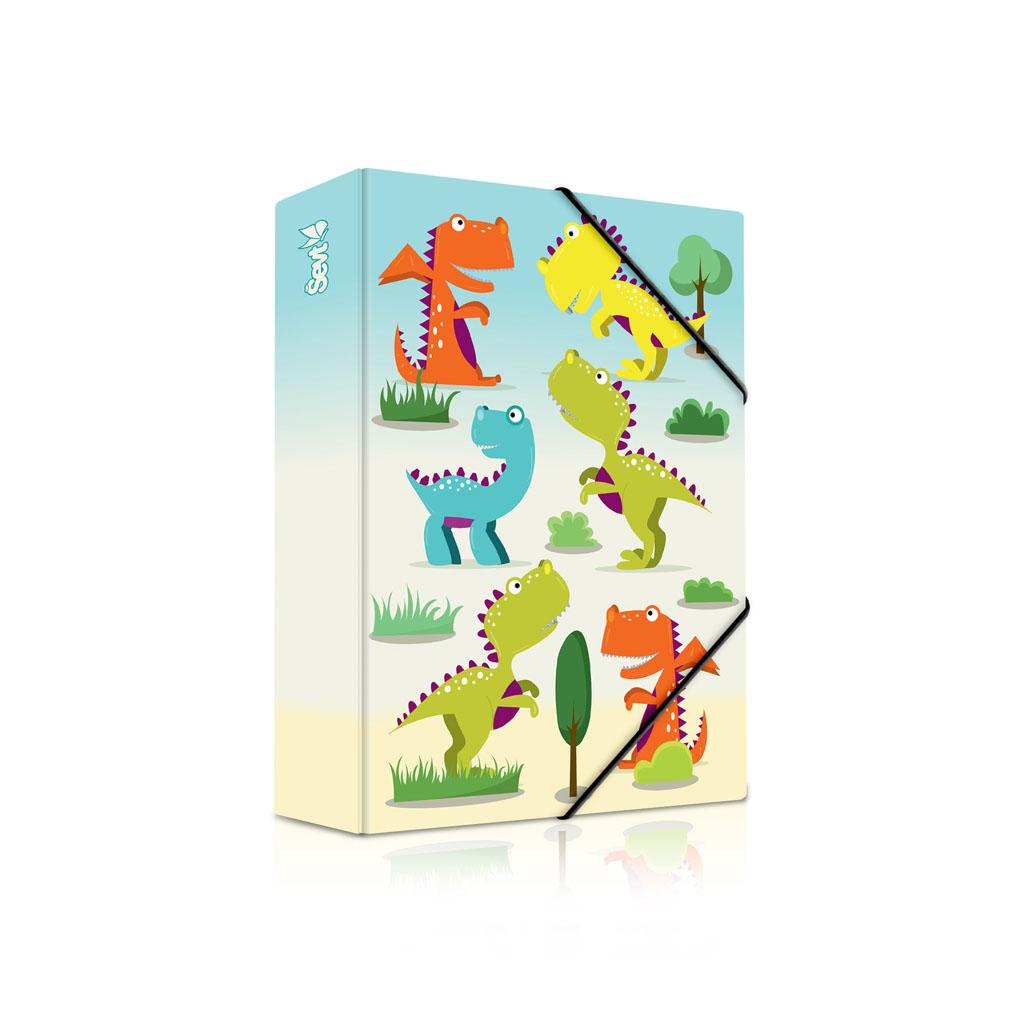 Dosky s boxom A5 lamino - dinosaury