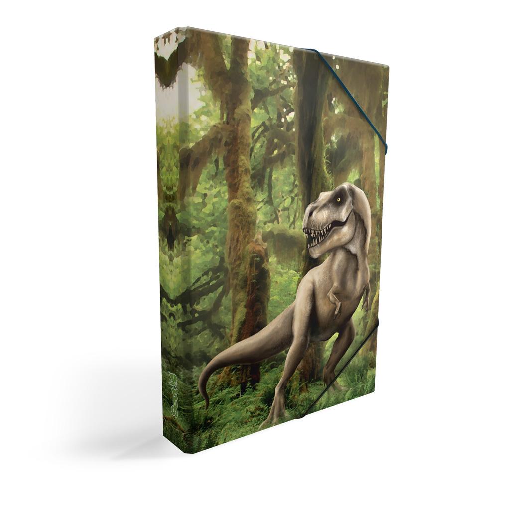 Dosky s boxom A5 lamino - dinosaurus