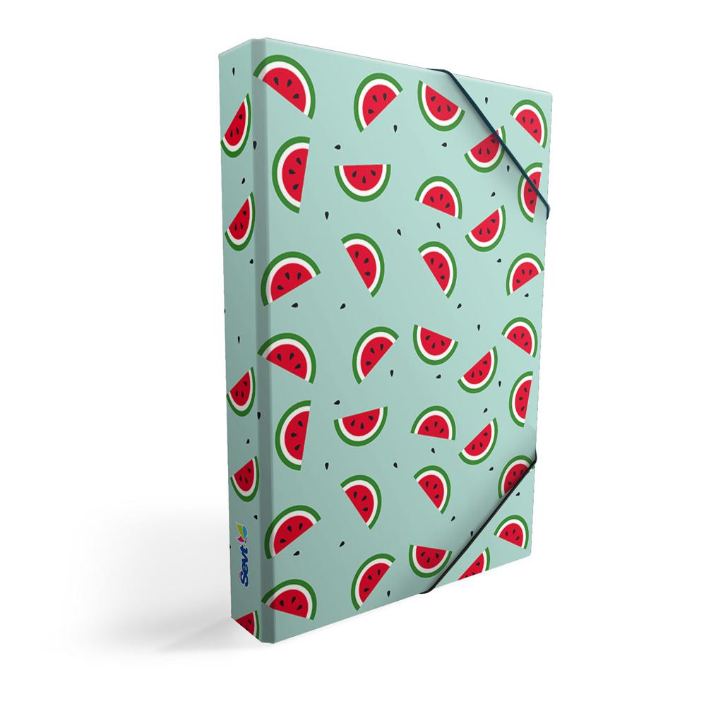 Dosky s boxom A5 lamino - ovocie - melóny