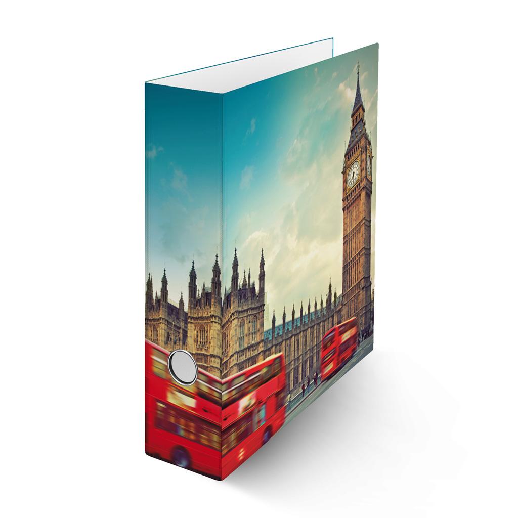 Zakladač pákový A4 8cm lamino - Londýn