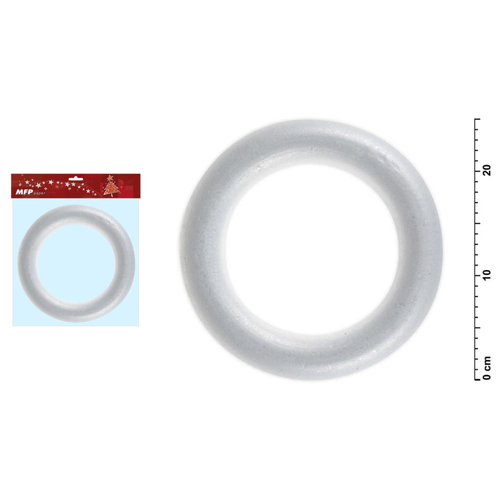 Polystyrénový venček 25cm, 1 ks