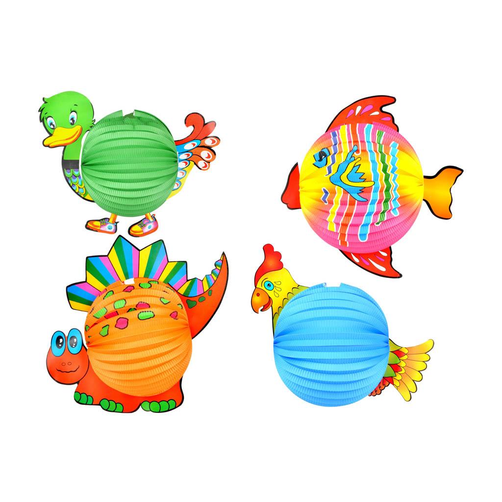 """Lampión """"guľa"""" zvieratká, 25 cm"""