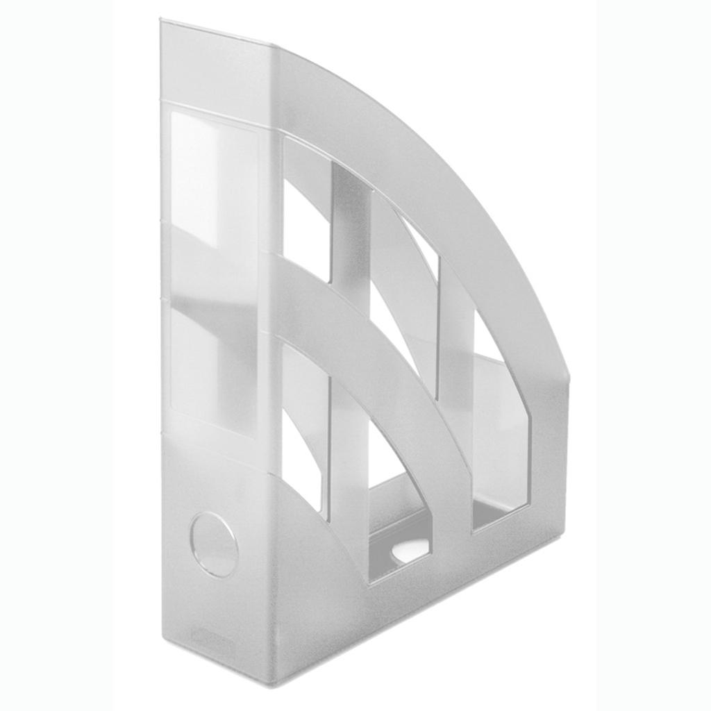 Zásobník A4 PVC Herlitz - transp. biela 10167443
