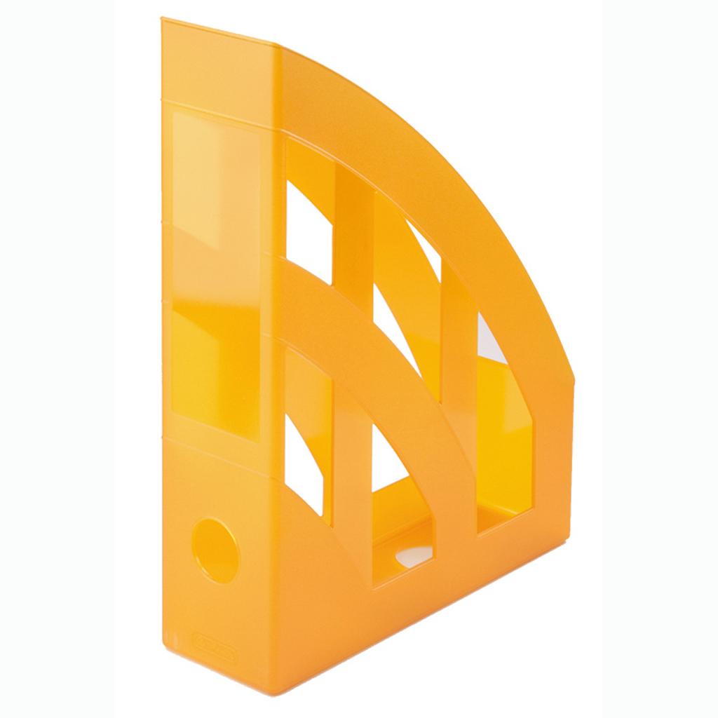 Zásobník A4 PVC Herlitz - transparentná oranžová