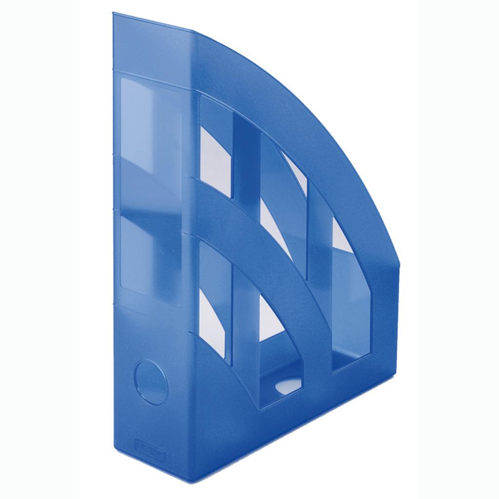 Zásobník A4 PVC Herlitz - transparentná tmavomodrá