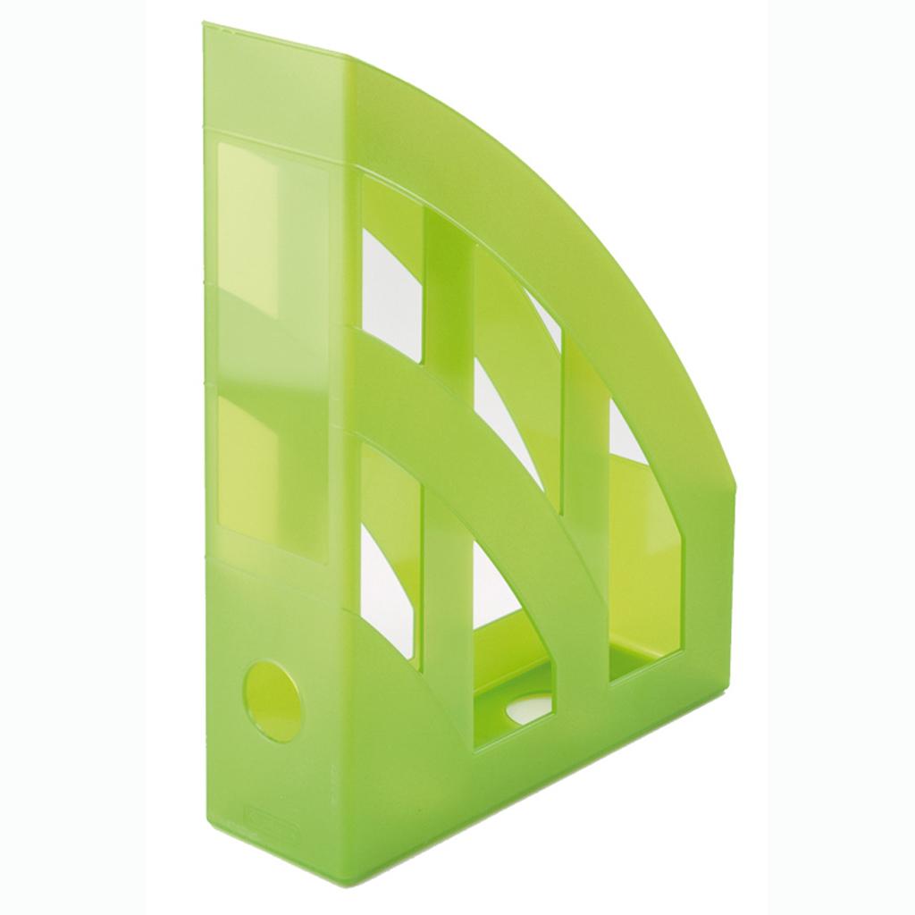 Zásobník A4 PVC Herlitz - transparentná zelená