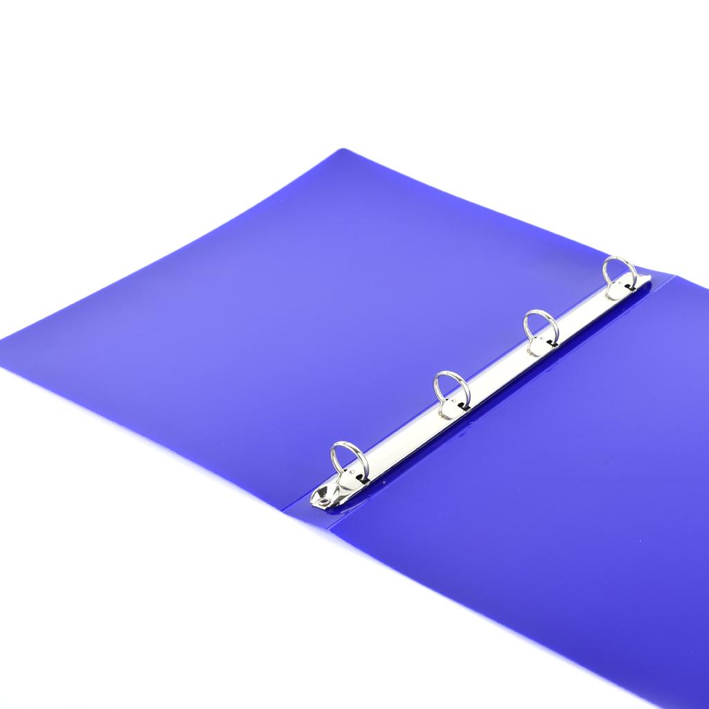 Karisblok Electra, 4-krúž., A4, 3,3 cm, PP, modrý /2-605/