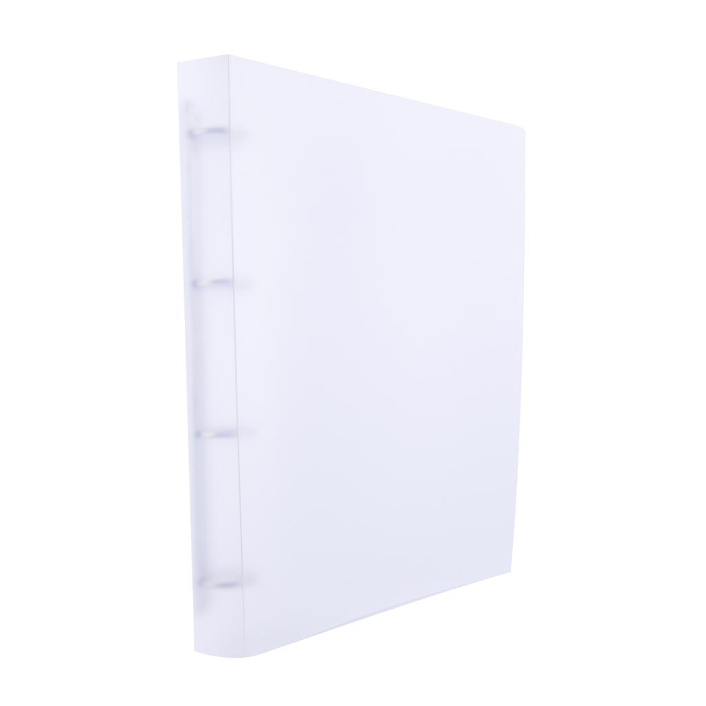 Karisblok Opaline, 4-krúž., A4, 3,2 cm, PP, číry /2-181/