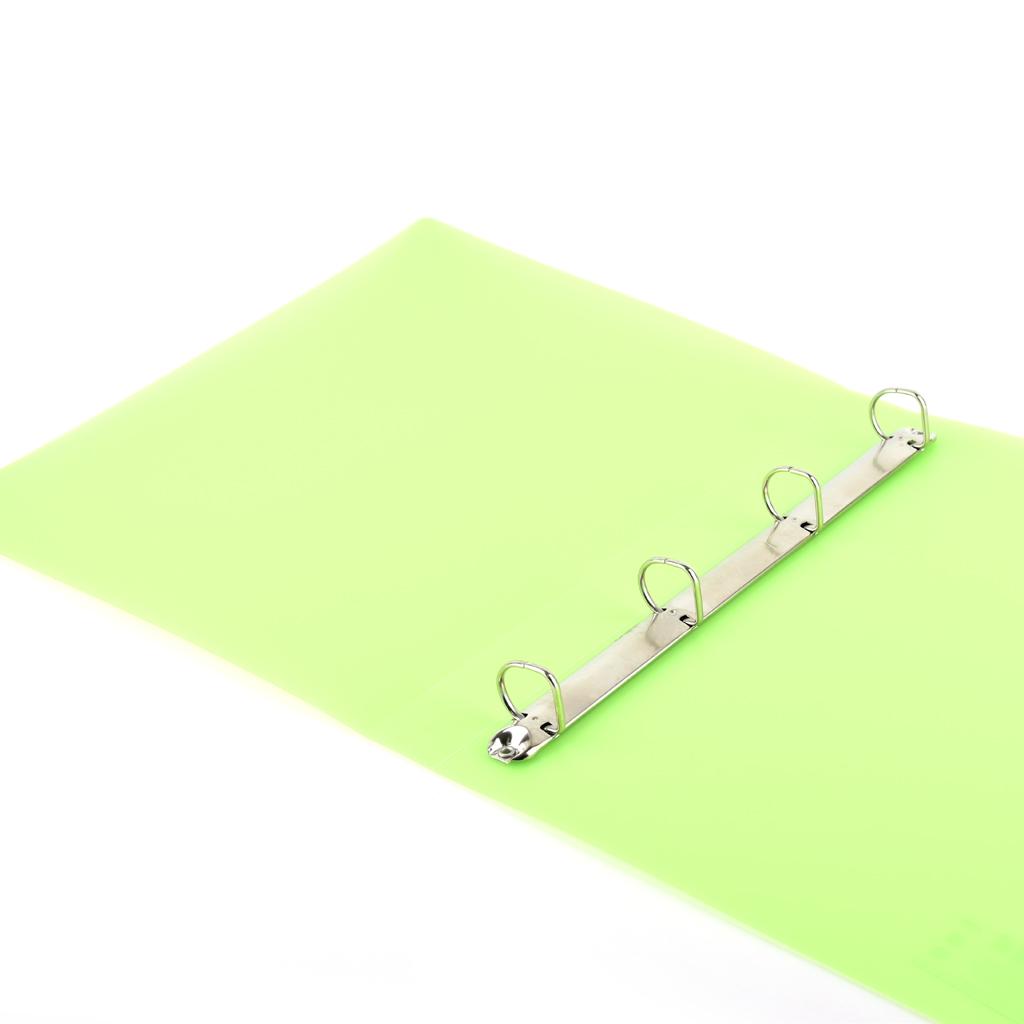 Karisblok Opaline, 4-krúž., A4, 3,2 cm, PP, zelený /2-185/