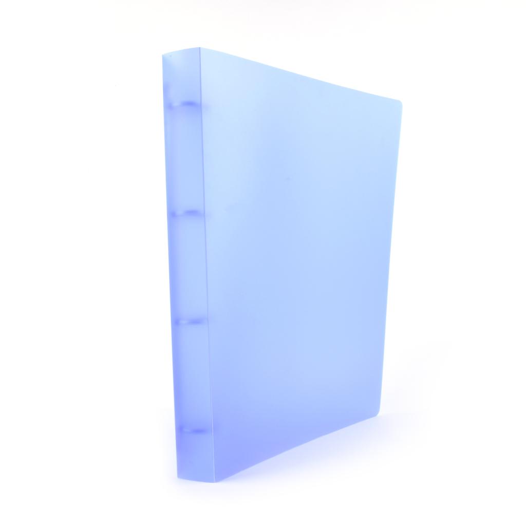 Karisblok Opaline, 4-krúž., A4, 3,2 cm, PP, modrý /2-187/