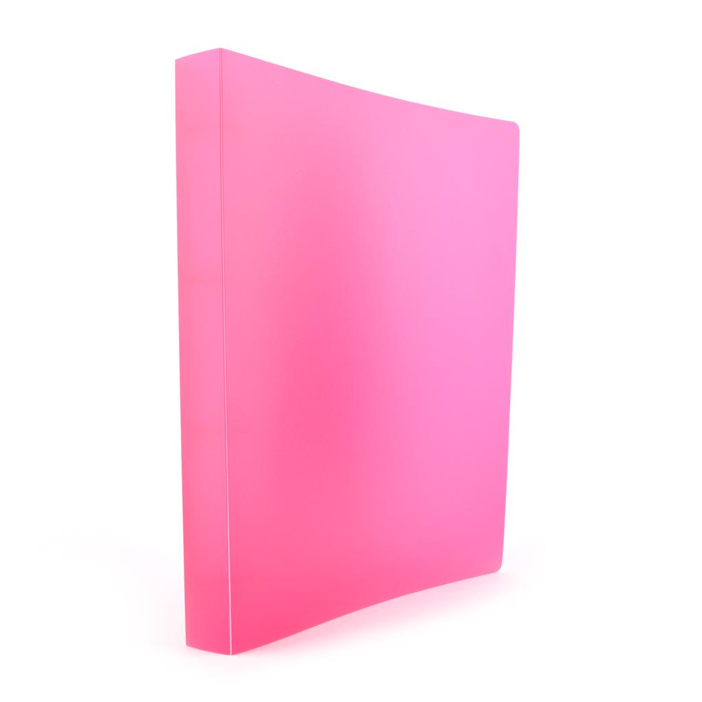Karisblok Opaline, 4-krúž., A4, 3,2 cm, PP, ružový /2-192/