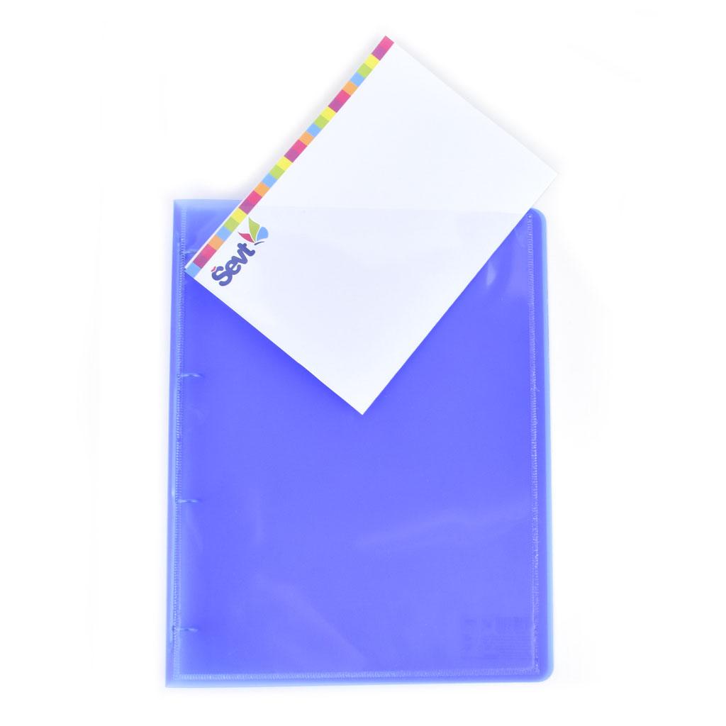 Karisblok prezentačný Opaline, 4-krúž., A4, 2 cm, PP, modrý /2-100/