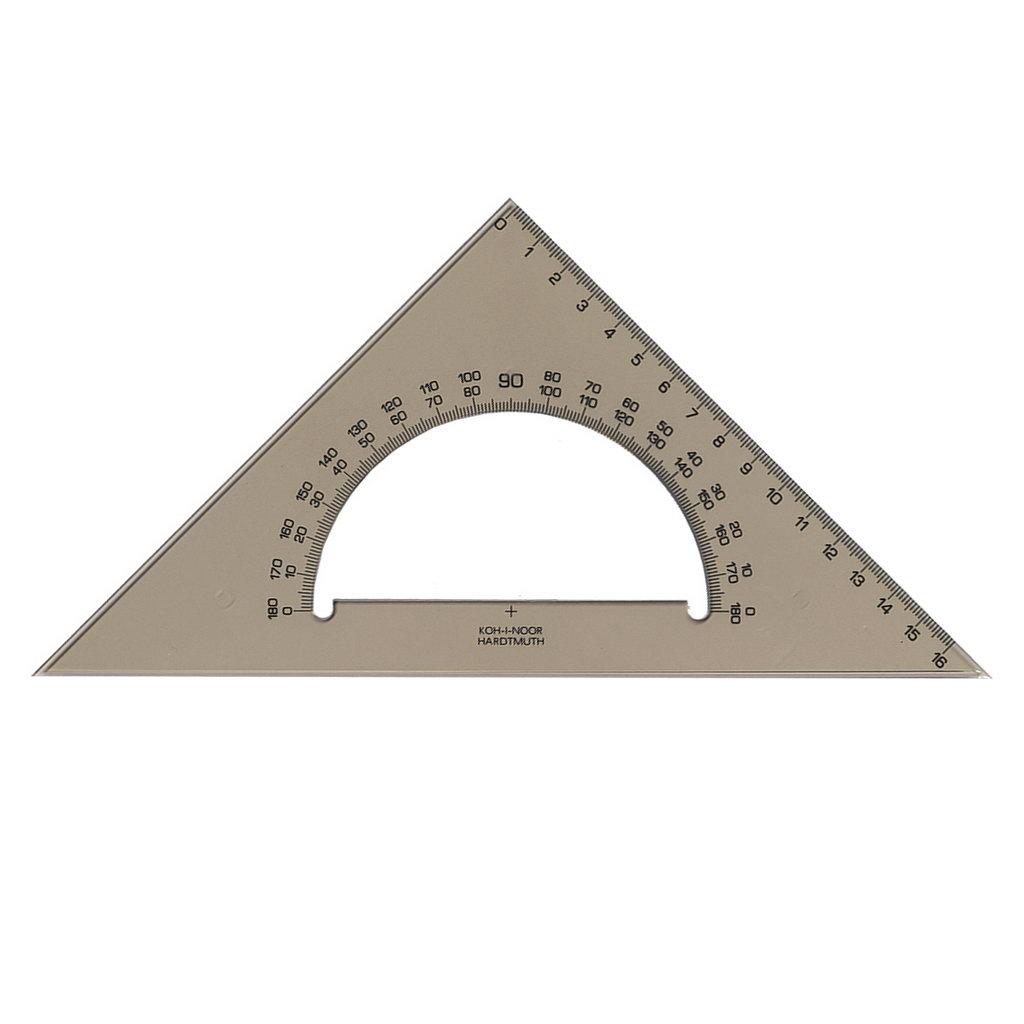 K-I-N Trojuholník s uhlomerom 180°