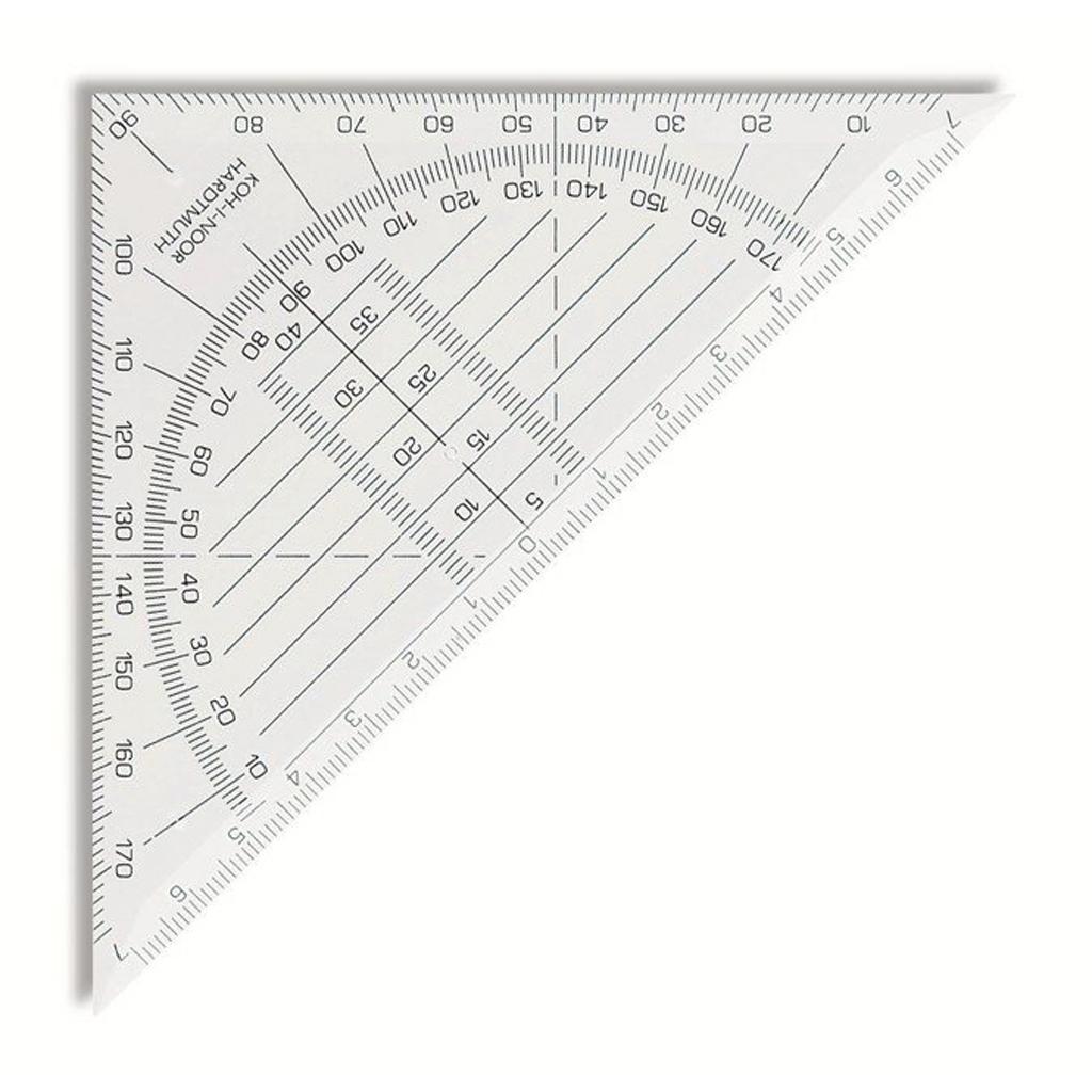 Trojuholník techn. s uhlomerom 180°