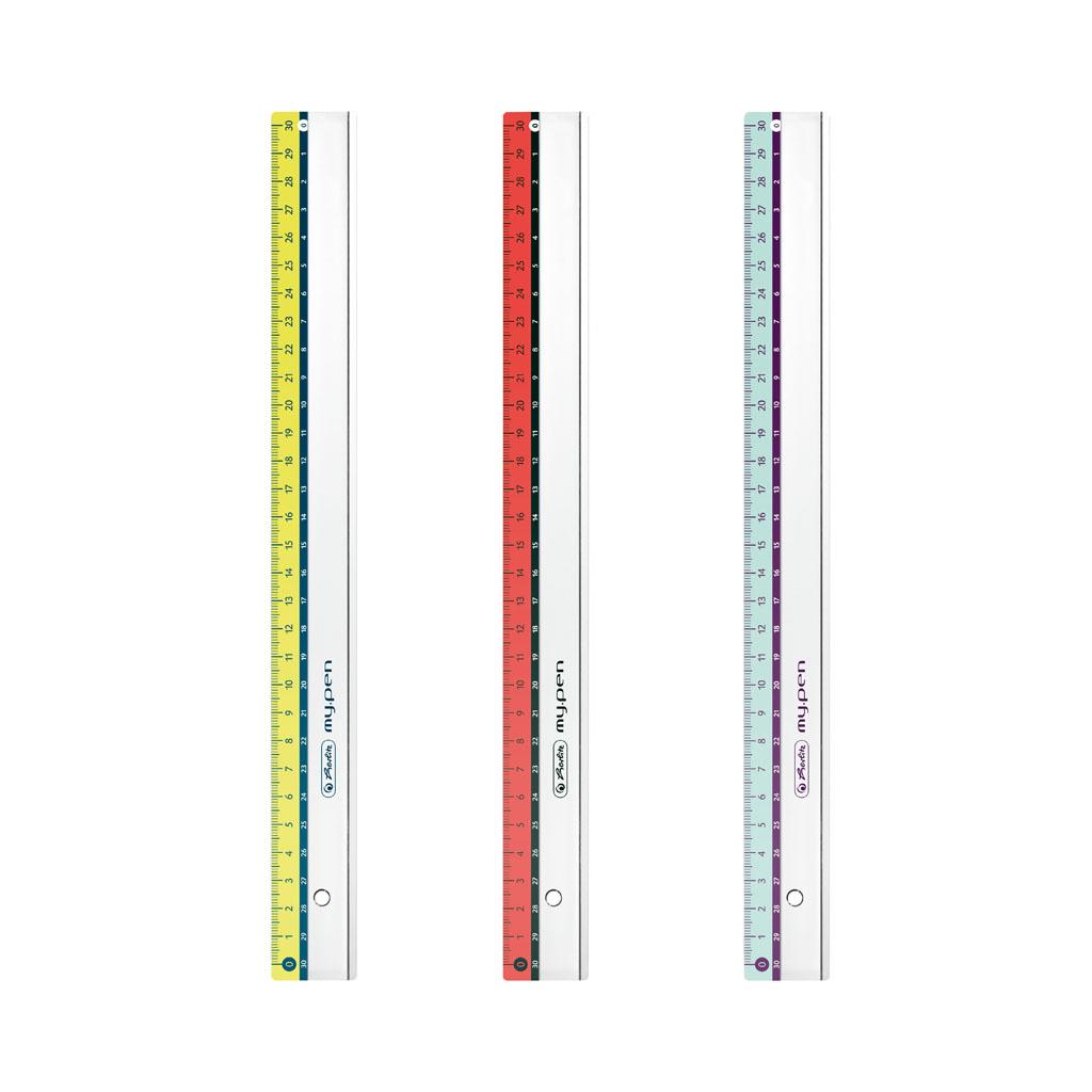 Pravítko my.pen 30 cm nelámavé / mix farieb