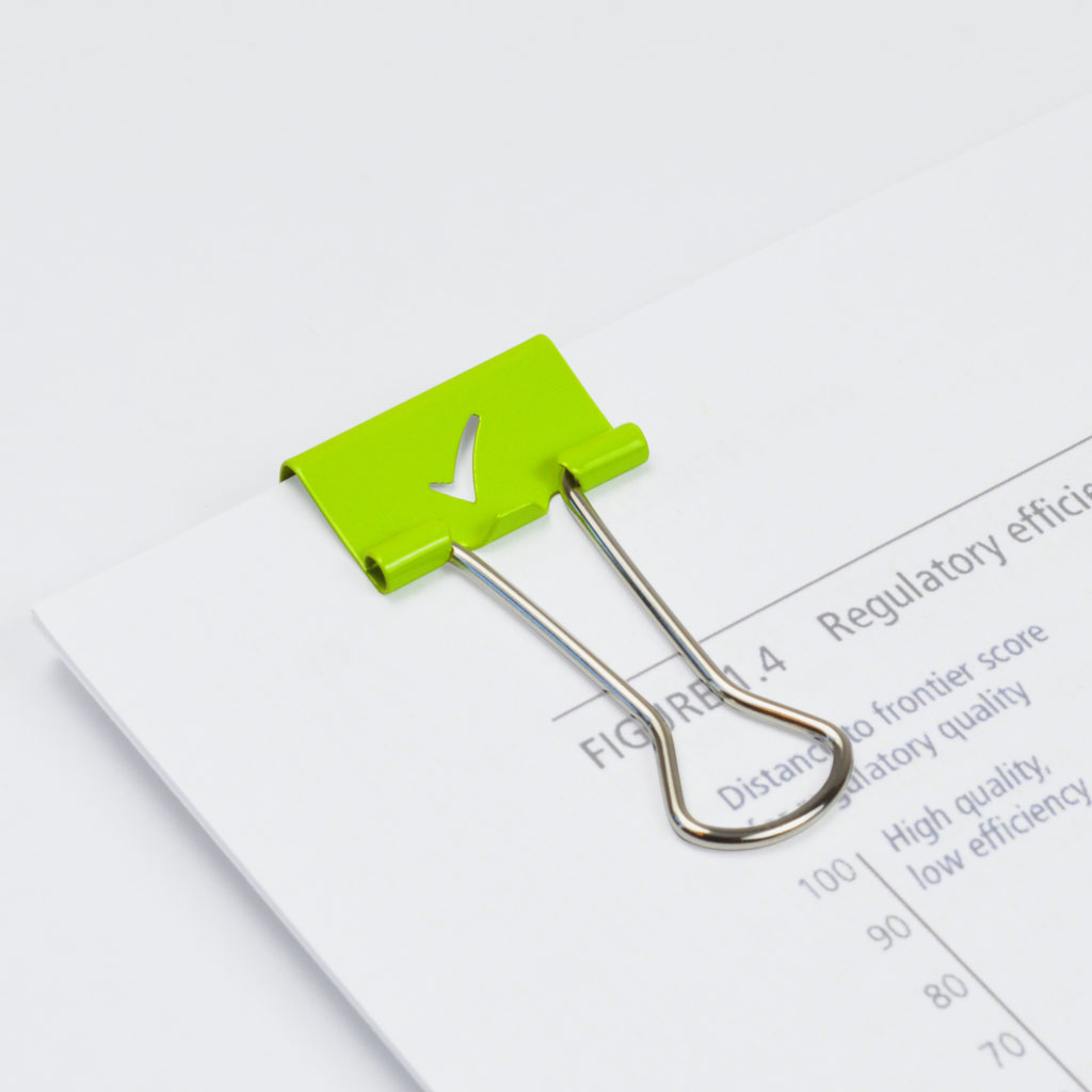 Klip Binder smotívom fajky, 19 mm, 80 ks, zelené