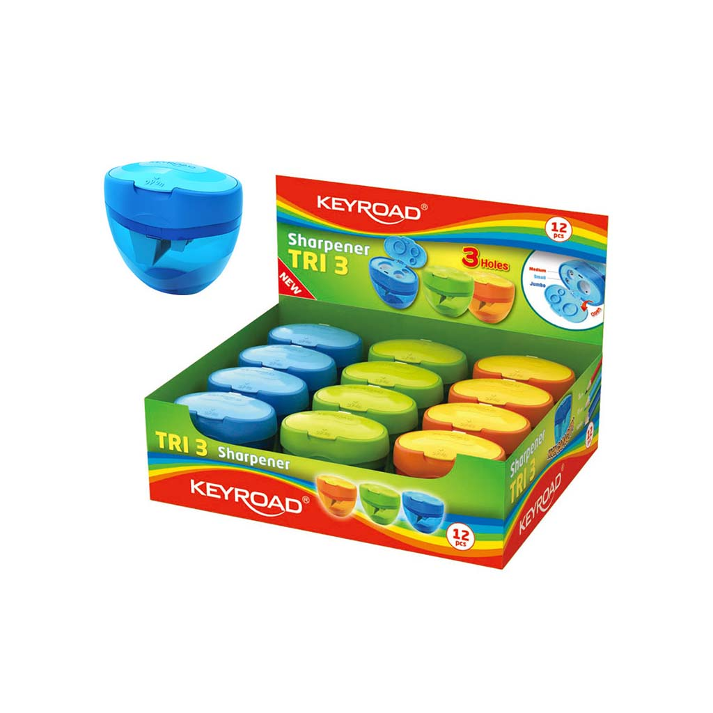 Strúhadlo trojité plastové so zásobníkom - mix farieb