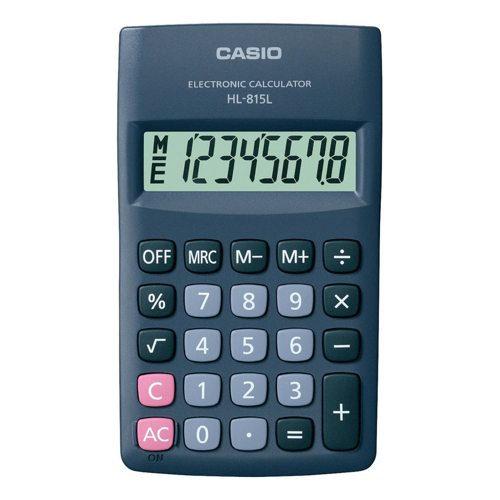 Kalkulačka Casio HL 815L BK / vrecková, 8m.