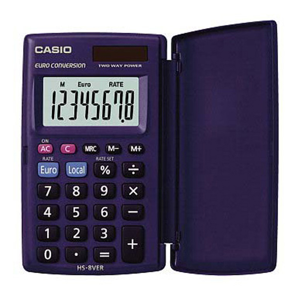 Kalkulačka Casio HS 8 VER / vrecková, 8m./€