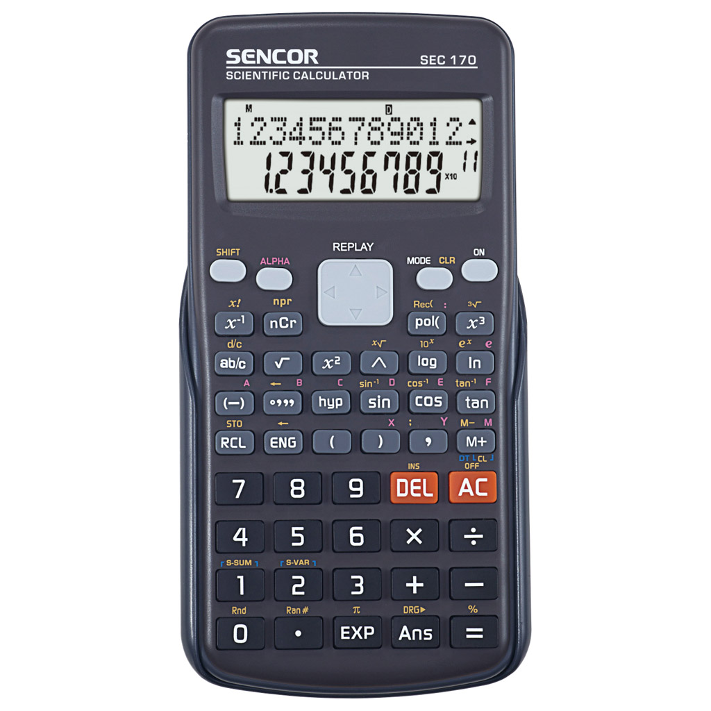 Kalkulačka Sencor SEC 170 / s mat. funk., 10m+2