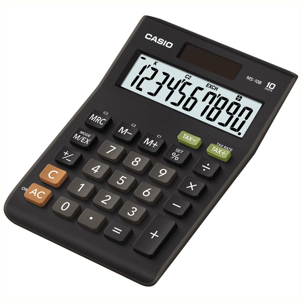 Kalkulačka Casio  MS 10 S / MS 10 B S stolová, 10m.