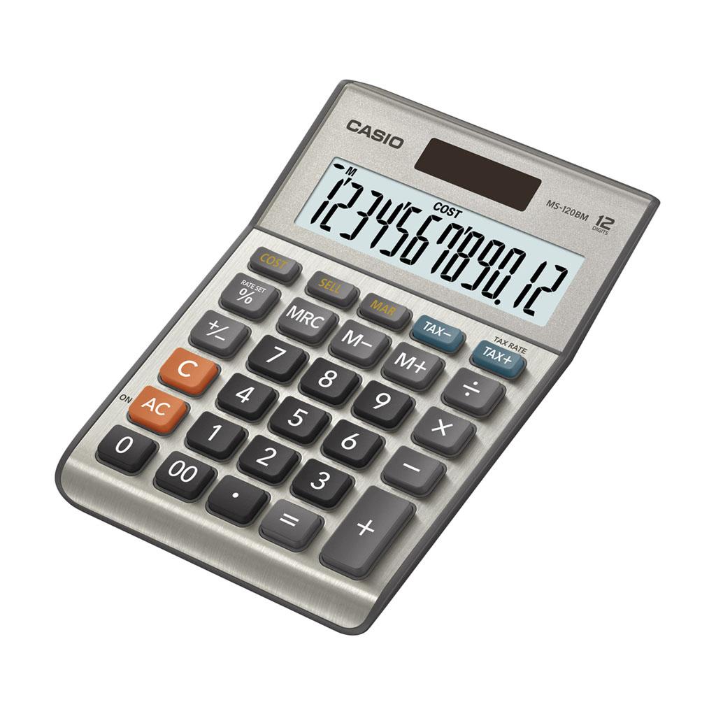 Kalkulačka Casio  MS 120 MS / MS 120 BM stolová, 12m.
